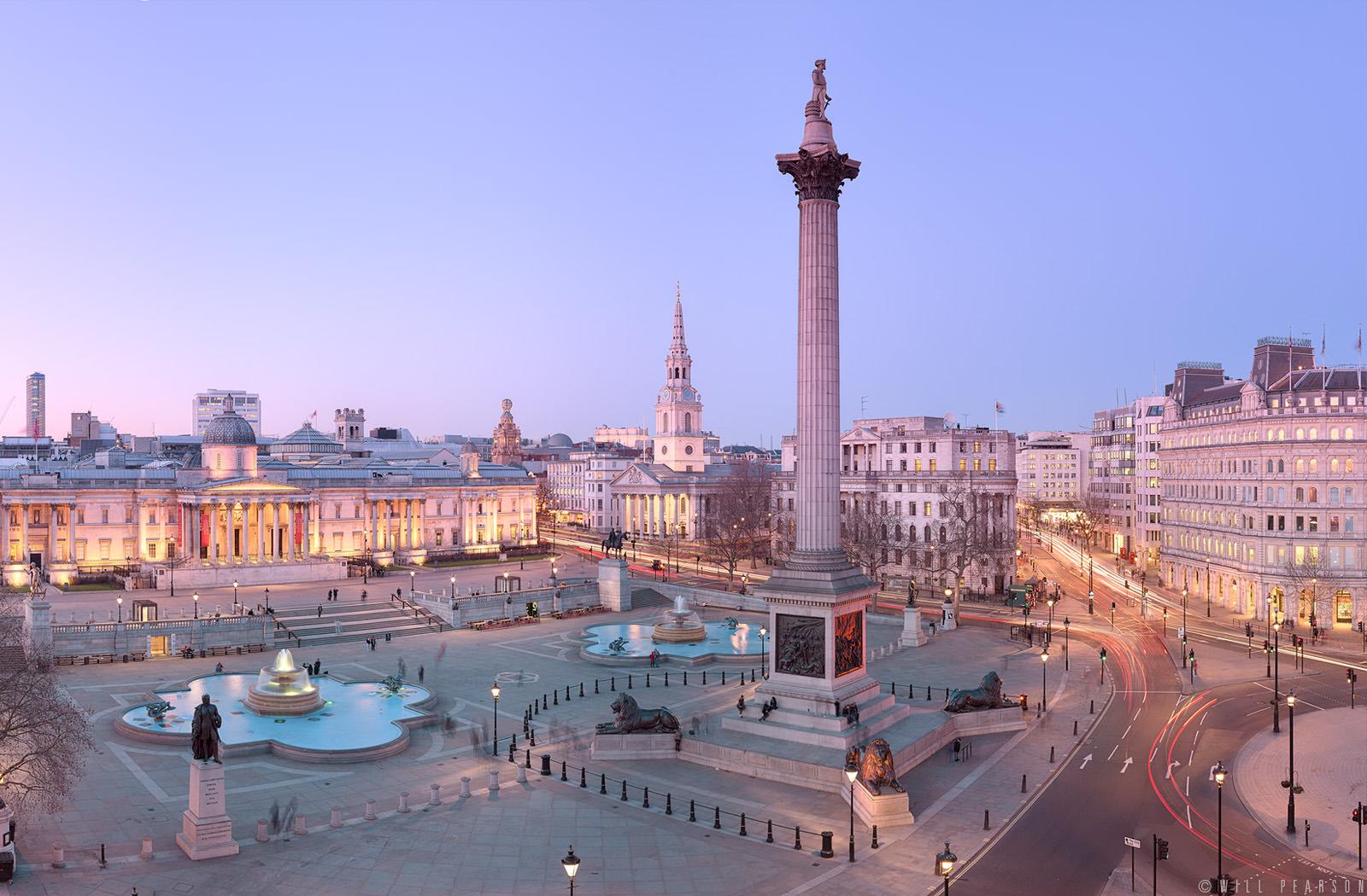 Trafalgar square the heart of london london airport for Time square londra