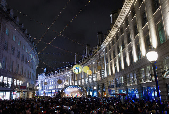 Regents Street Christmas Lights-London