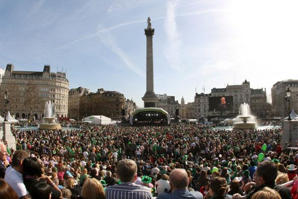 St Patrick's Day, London