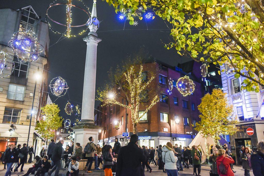 Seven dials Christmas lights-London